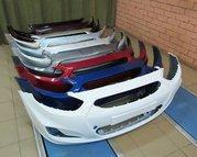 Бампер Hyundai Solaris в цвет Новый